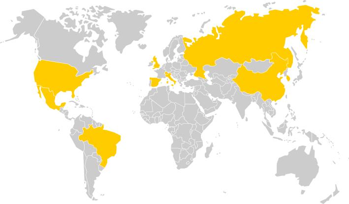 Mappa di HDDS Vision nel mondo