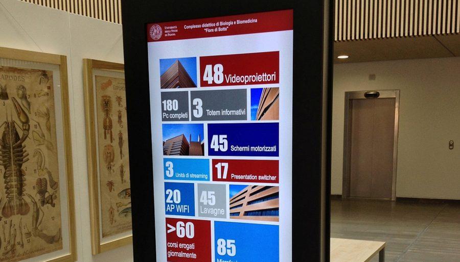 Totem informativi con monitor 55″ – Università di Padova