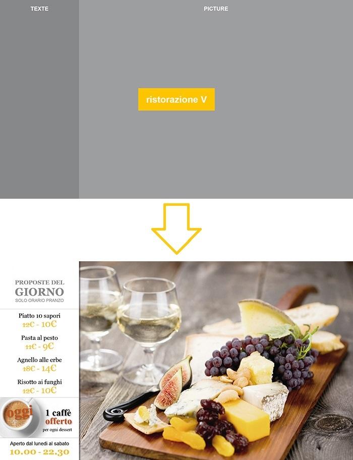 Esempio Impaginazione Vision ristorazione - 2