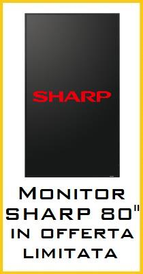 Monitor professionale SHARP PN-E803 in offerta limitata