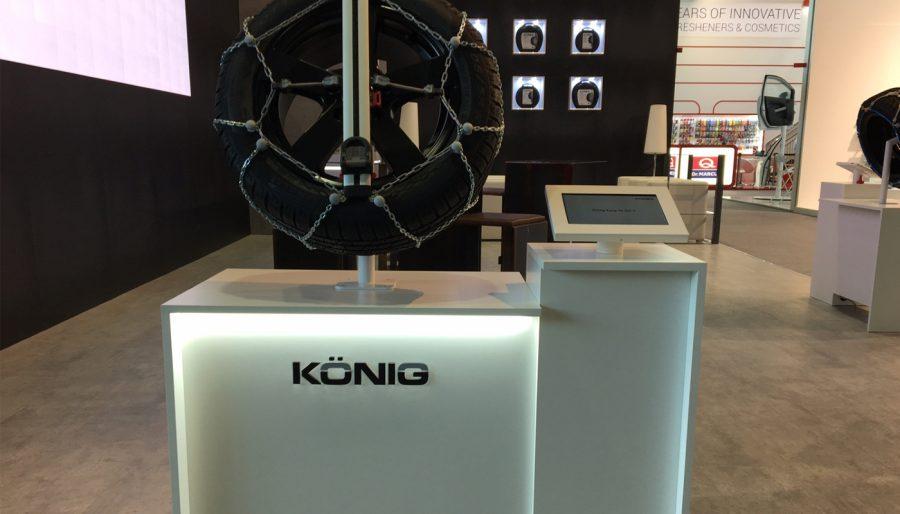 Espositori König con Tablet Android Digital Signage