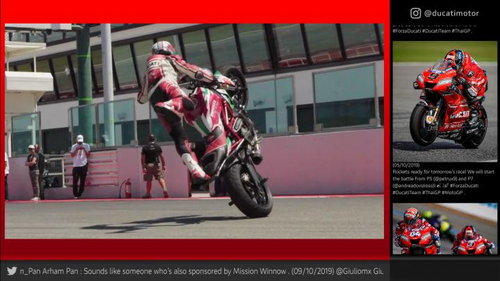 Social Digital Signage - Palinsesto Ducati