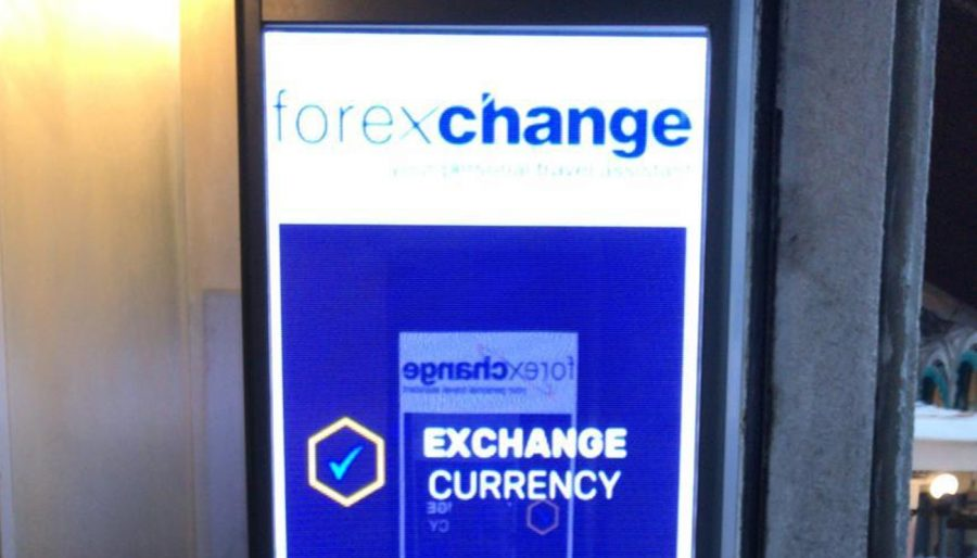 Ledwall indoor per Agenzie cambio valute ForexChange